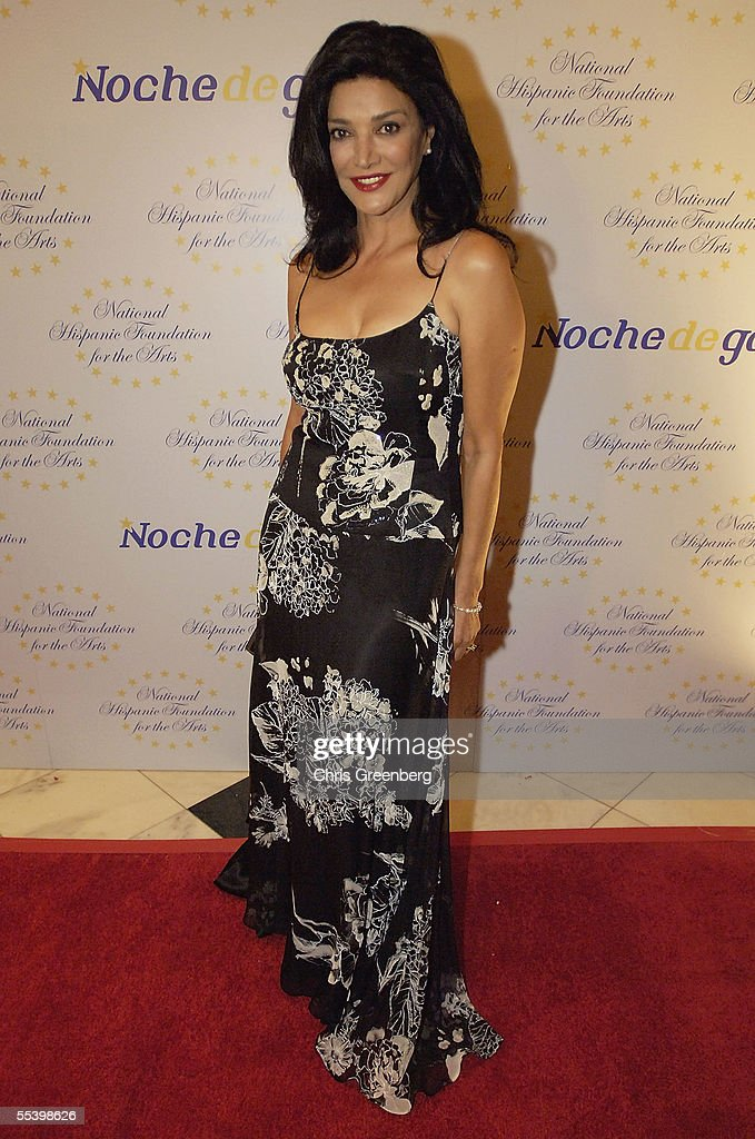Actress Shohreh arrives at the National Hispanic Foundation For The Arts Annual 'Noche de Gala' at the Mayflower Hotel, September 13, 2005 in Washington, DC.