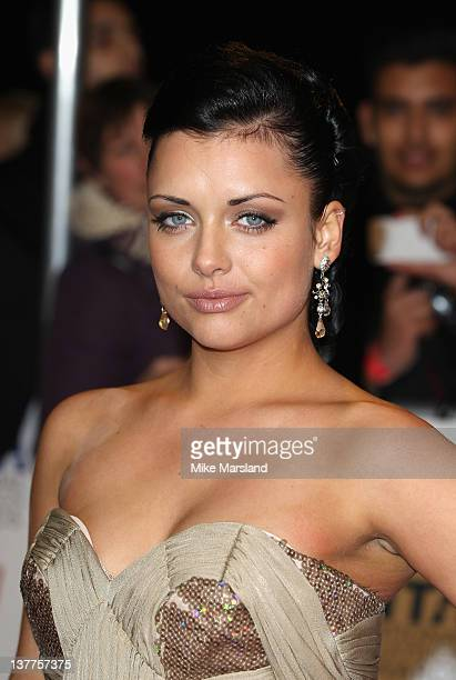 Actress Shona McGarty attends the National Television Awards at the O2 Arena on January 25 2012 in London England