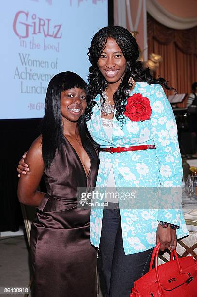 Actress Shondrella Avery poses with Be Girl Jessica Patterson at A Place Called Home's Girlz In The Hood Women of Achievement Awards on May 5 2009 in...