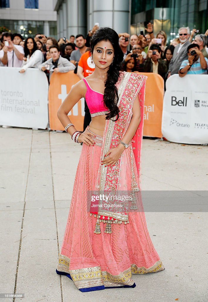 Actress Shriya Saran arrives at the 'Midnight's Children' Premiere at the 2012 Toronto International Film Festival at Roy Thomson Hall on September 9, 2012 in Toronto, Canada.