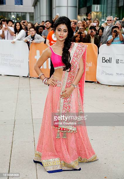 "Actress Shriya Saran arrives at the ""Midnight's Children"" Premiere at the 2012 Toronto International Film Festival at Roy Thomson Hall on September..."