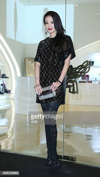 Actress Shu Qi attends an opening event of MCM at Taipei 101 on October 16 2015 in Taipei Taiwan of China