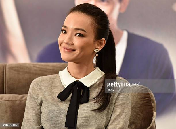 Actress Shu Qi attends the press conference of writer and director Luoluo Zhao Jiaorong's film 'The Last Women Standing' on November 7 2015 in...