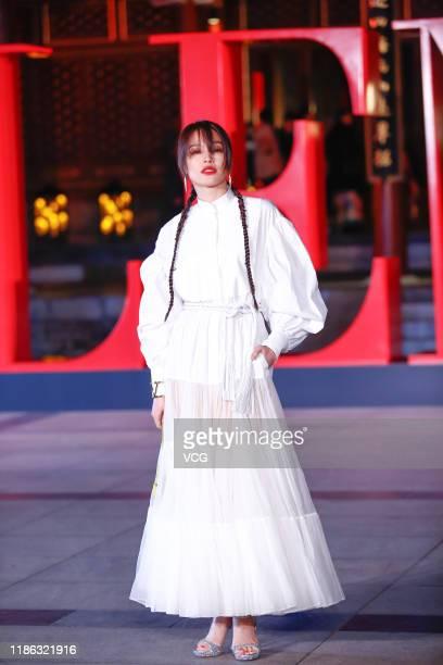 Actress Shu Qi attends Valentino fashion show at Aman Summer Palace on November 7, 2019 in Beijing, China.