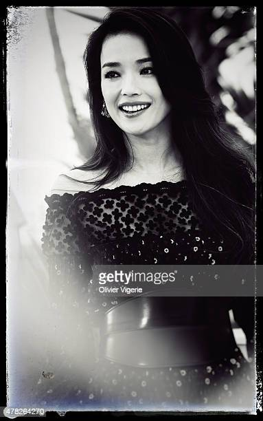 Actress Shu Qi is photographed on May 15 2015 in Cannes France