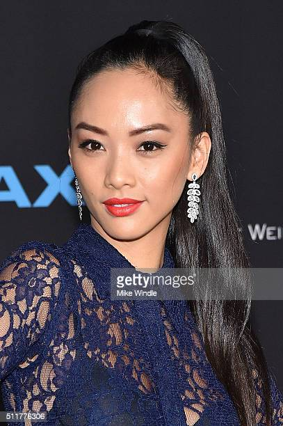 Actress Shuya Chang attends the premiere of Netflix's Crouching Tiger Hidden Dragon Sword Of Destiny at AMC Universal City Walk on February 22 2016...