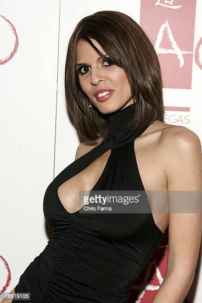 Actress Shy Love arrives at a naughty night to remember at TAO Nightclub at The Venetian Hotel and Casino Resort on January 12 2008 in Las Vegas...