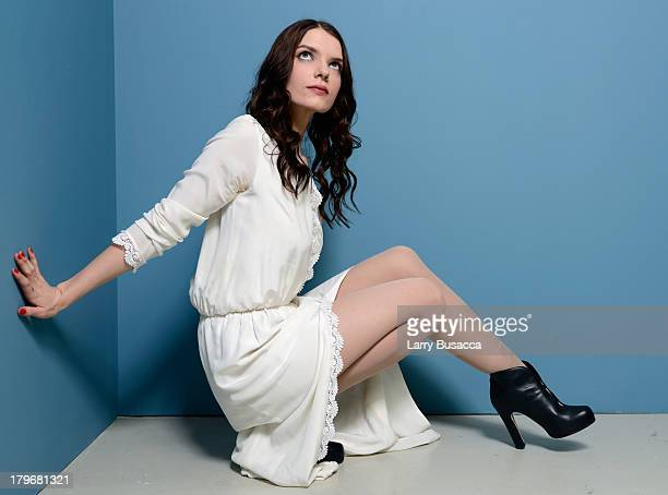 Actress Sianoa SmitMcPhee of 'All Cheerleaders Die' poses at the Guess Portrait Studio during 2013 Toronto International Film Festival on September 6...