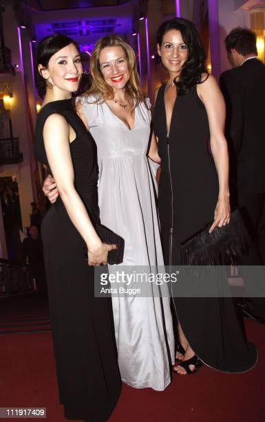 Actress Sibel Kekilli actress Alexandra Neldel and Minu BaratiFischer attend the Deutscher Filmpreis after party at Friedrichstadtpalast on April 8...