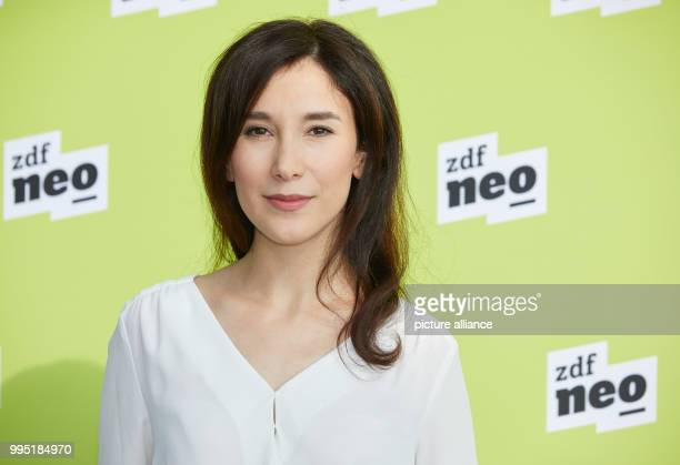 Actress Sibel Kekilli at the German public broadcaster ZDFneo's presentation of two new television series in the ZDF studio in Hamburg Germany 22...