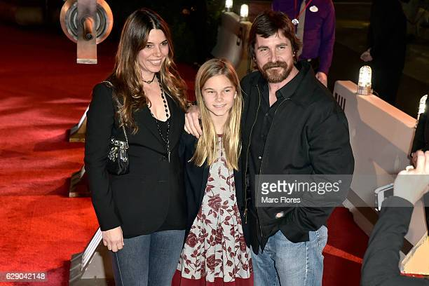 Actress Sibi Blazic guest and ctor Christian Bale attend The World Premiere of Lucasfilm's highly anticipated firstever standalone Star Wars...