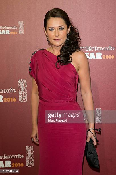 Actress Sidse Babett Knudsen arrives to attend the 'Cesars Film Awards 2016' ceremony at Theatre du Chatelet on February 26 2016 in Paris France