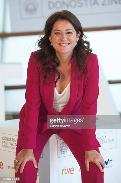 Actress Sidse Babett Knudsen attends 'La Fille De Brest' premiere at the Kursaal Palace during 64th San Sebastian International Film Festival on...