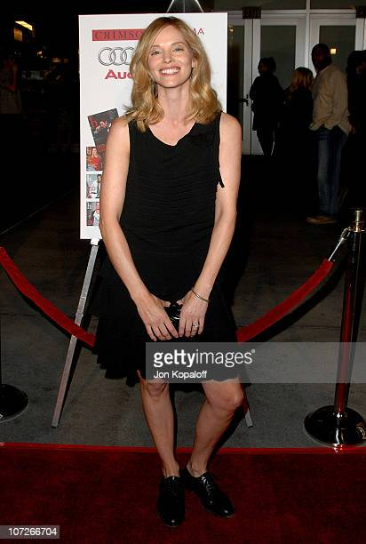 Actress Sienna Guillory arrives at the Los Angeles Premiere 'The Air I Breathe' at the ArcLight Theater on January 15 2008 in Hollywood California