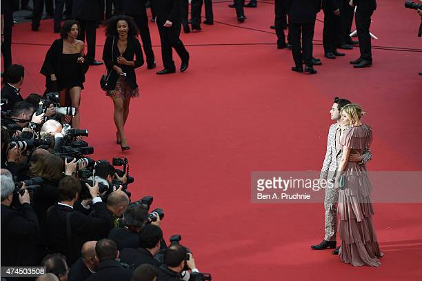 """Actress Sienna Miller and Director Xavier Dolan attend the """"Macbeth"""" Premiere during the 68th annual Cannes Film Festival on May 23, 2015 in Cannes,..."""