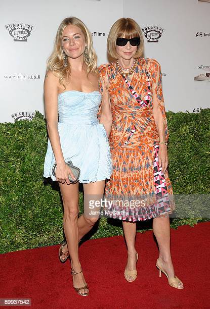 Actress Sienna Miller and Editor in Chief of Vogue Anna Wintour attend the premiere of The September Issue at The Museum of Modern Art on August 19...