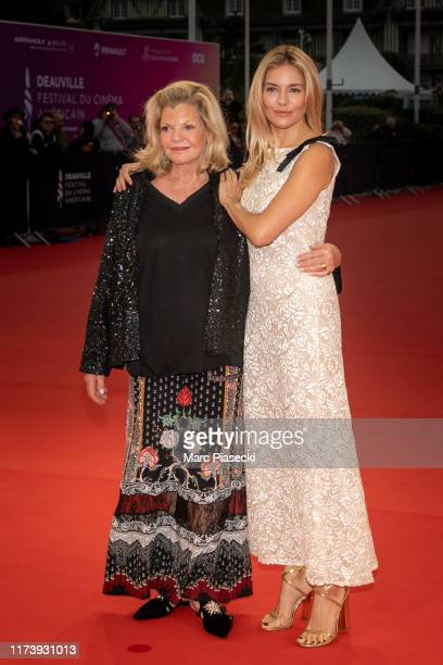 "Actress Sienna Miller and her mother Jo Miller attend the ""American Women"" Premiere during the 45th Deauville American Film Festival on September 11,..."