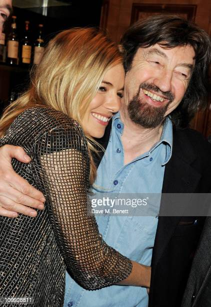 Actress Sienna Miller and Sir Trevor Nunn attend an after party celebrating the Gala Preview of the new west end production of Flare Path on March 10...