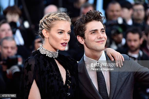"""Actress Sienna Miller and Xavier Dolan attend the Premiere of """"Carol"""" during the 68th annual Cannes Film Festival on May 17, 2015 in Cannes, France."""