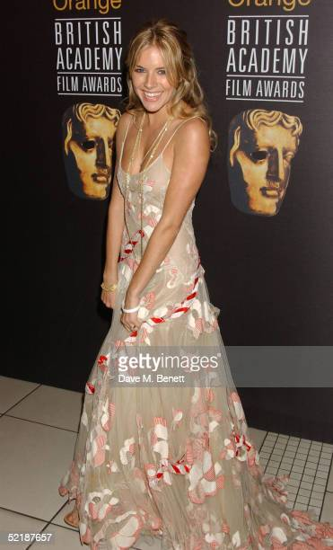 Actress Sienna Miller arrives at The Orange British Academy Film Awards 2005 at the Odeon Leicester Square on February 12 2005 in London