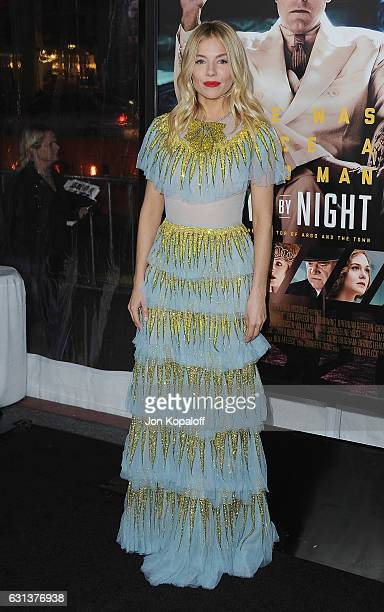 Actress Sienna Miller arrives at the Premiere of Live By Night at TCL Chinese Theatre on January 9 2017 in Hollywood California