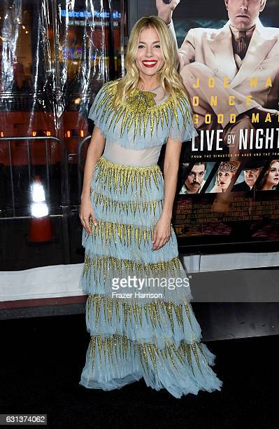 Actress Sienna Miller arrives at the Premiere Of Warner Bros Pictures' 'Live By Night' at TCL Chinese Theatre on January 9 2017 in Hollywood...