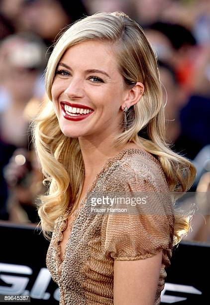 Actress Sienna Miller arrives at the special screening of GI Joe The Rise Of Cobra held at Grauman's Chinese Theatre on August 6 2009 in Los Angeles...