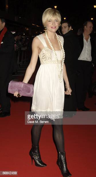 """Actress Sienna Miller arrives at the UK Premiere of """"Casanova"""" at Vue West End on February 13, 2006 in London, England."""