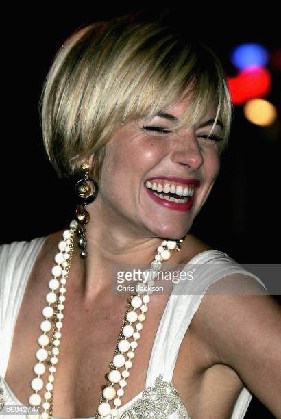 Actress Sienna Miller arrives at the UK Premiere of 'Casanova' at Vue West End on February 13 2006 in London England