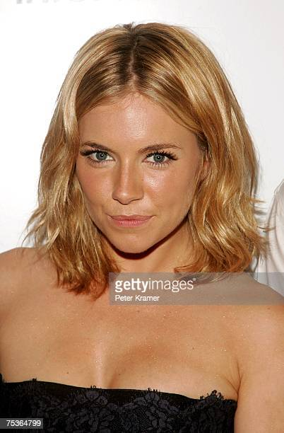 Actress Sienna Miller arrives during a screening of Interview hosted by The Cinema Society and Dior Beauty at the Tribeca Grand Screening Room on...