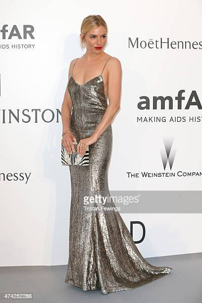 Actress Sienna Miller attends amfAR's 22nd Cinema Against AIDS Gala, Presented By Bold Films And Harry Winston at Hotel du Cap-Eden-Roc on May 21,...