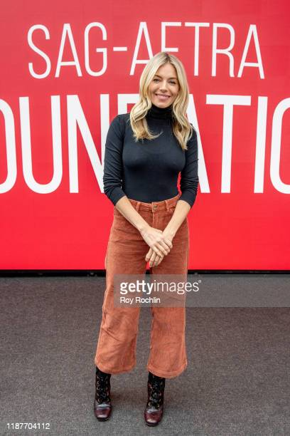 Actress Sienna Miller attends SAGAFTRA Foundation Conversations American Woman at The Robin Williams Center on November 14 2019 in New York City