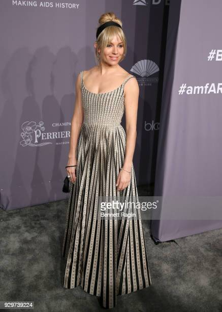 Actress Sienna Miller attends the 2018 amfAR Gala New York at Cipriani Wall Street on February 7, 2018 in New York City.