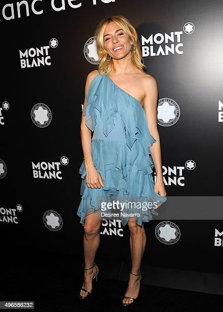 Actress Sienna Miller attends the 24th Anniversary Year Of Montblanc De La Culture Arts Patronage Awards at Kappo Masa on November 10 2015 in New...