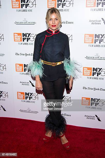 Actress Sienna Miller attends the 54th New York Film Festival closing night screening of The Lost City Of Z at Alice Tully Hall Lincoln Center on...