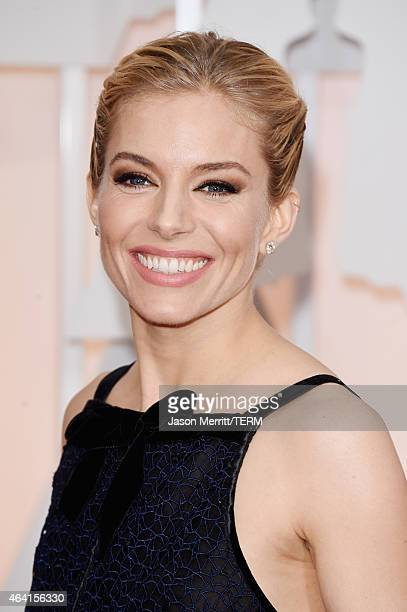 Actress Sienna Miller attends the 87th Annual Academy Awards at Hollywood Highland Center on February 22 2015 in Hollywood California