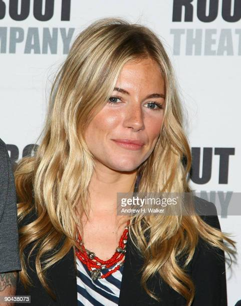 Actress Sienna Miller attends the 'After Miss Julie' Broadway cast photo call on September 8 2009 in New York City