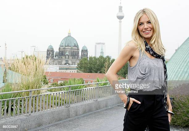 Actress Sienna Miller attends the Berlin photocall of 'GI Joe' at the rooftop of the Hotel de Rome on July 23 2009 in Berlin Germany