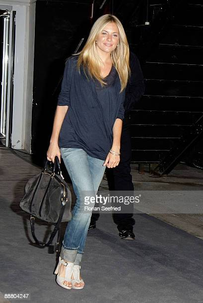 Actress Sienna Miller attends the 'BOSS Orange' fashion party during the MercedesBenz Fashion Week Berlin S/S 2010 at Rathenauhallen on July 2 2009...