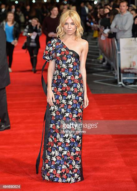 Actress Sienna Miller attends the 'Burnt' European premiere at the Vue West End on October 28 2015 in London England