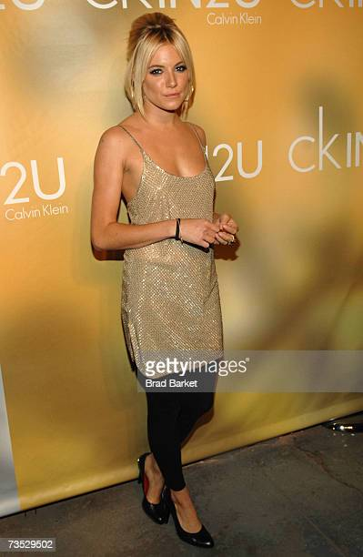 Actress Sienna Miller attends the Calvin Klein fragrance release party on March 8 2007 in New York City