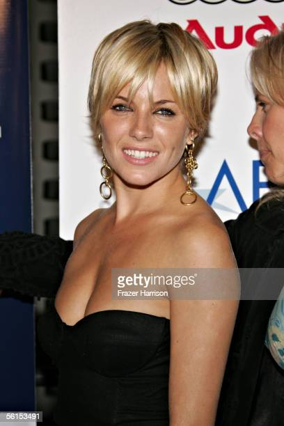 Actress Sienna Miller attends the Casanova Closing Night Gala during AFI Fest presented by Audi at the ArcLight Theatre on November 13 2005 in...