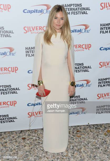 Actress Sienna Miller attends the Chairman's Reception Honoring Richard Gere Ann Roth James Schamus during the 20th Hamptons International Film...