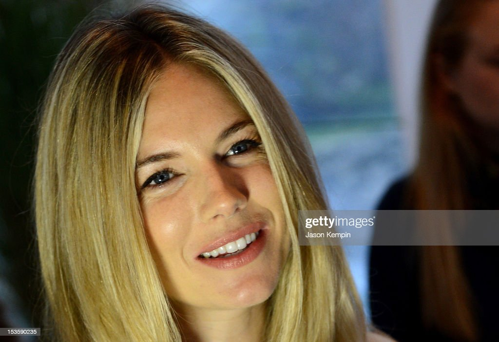 Actress Sienna Miller attends the Chairman's Reception Honoring Richard Gere, Ann Roth & James Schamus during the 20th Hamptons International Film Festival at the Suna Residence on October 6, 2012 in East Hampton, New York.
