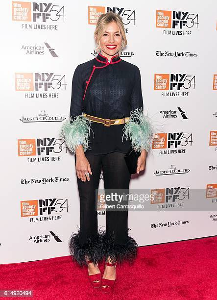 Actress Sienna Miller attends the closing night screening of 'The Lost City Of Z' for the 54th New York Film Festival at Alice Tully Hall Lincoln...