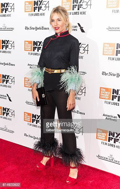 Actress Sienna Miller attends the closing night screening of 'The Lost City Of Z' for the 54th New York Film Festival at Alice Tully Hall, Lincoln...