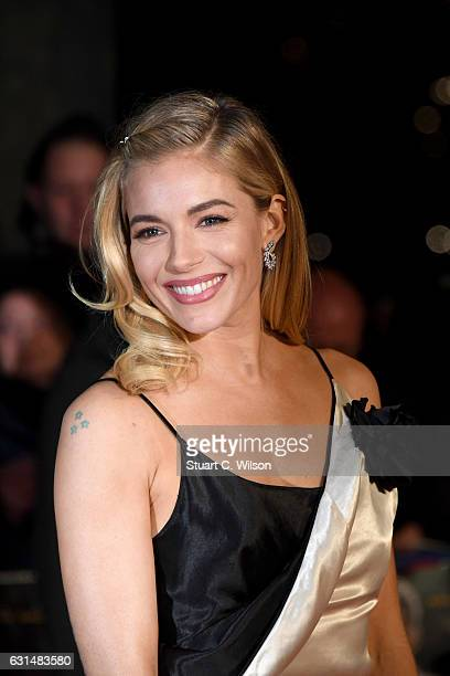 Actress Sienna Miller attends the film premiere of 'Live By Night' on January 11 2017 in London United Kingdom