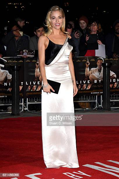 Actress Sienna Miller attends the film premiere of Live By Night on January 11 2017 in London United Kingdom