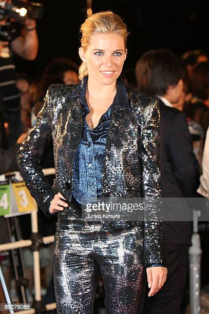 Actress Sienna Miller attends the GI Joe The Rise Of Cobra Japan Premiere at Lalaport Toyosu on July 27 2009 in Tokyo Japan The film will open on...