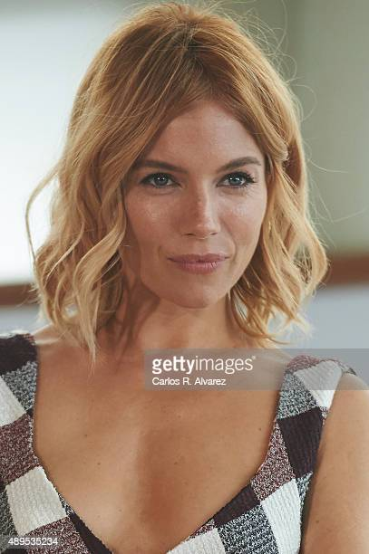 Actress Sienna Miller attends the 'HighRise' photocall at the Kursaal Palace during the 63rd San Sebastian International Film Festival on September...